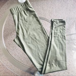 Olive Green Leggings - NWOT